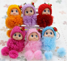 1pcs new 8cm Kids Toys Soft Interactive Baby Dolls Toy Mini Doll For boys and Gi