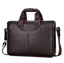 US Mens Business Leather Briefcase Handbag Shoulder Messenger Laptop Satchel Bag