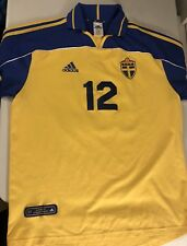 Sweden SFF Adidas Home Football Soccer  Jersey Shirt Authentic
