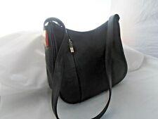 Worthington Black leather Chrome trim simple mid size shoulder bag