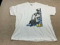 NASCAR #48 Jimmie Johnson Short Sleeve T-Shirt Men's Size 2XL White