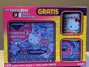Hello Kitty Saba Sanitary Pads 40 XL Pads + 1 Hello Kitty Pewter Mug
