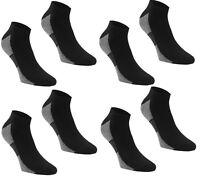 4 x Dunlop Performance Trainer Mens Socks Sports COOL MAX UK12+ EU47+ Black S143