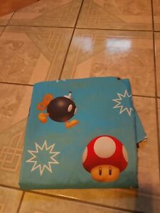Nintendo Super Mario Brothers One Full Size Flat Sheet Mario kart Fabric