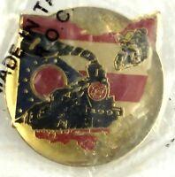 Vtg Pin Goldwing GWRRA Club Chapter Member 1991 Ohio Rally Train Yard Locomotive