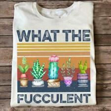 Retro Succulent What The Fucculent Cactus Succulents Gardening Gift Idea T-Shirt