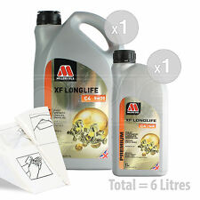 Car Engine Oil Service Kit / Pack 6 LITRES Millers XF Longlife C4 5w-30 6L