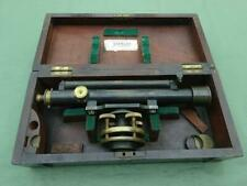More details for large vintage theodolite by w f stanley & co in original wooden box