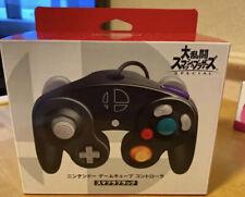Official Nintendo Super Smash Bros. Black GameCube Wii U Controller Boxed
