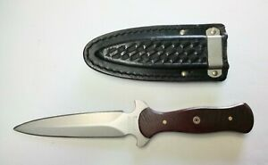 Vintage Western 77 Custom Micarta Handle Dagger Boot Knife W/Sheath USA 🇺🇸
