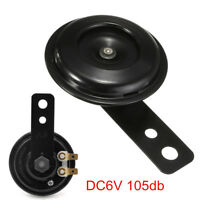 DC 6V 105dB Waterproof Black Mount Siren Electric Horn For Vehicle Car Motor