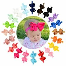 Baby Girls Toddler Hair Bows Headbands Large Pack of 20 Stretchy Hair Bands NEW
