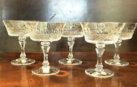 Lenox Revelry  Vintage Hand Cut Sherbet Glasses - Set of 5