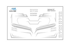 H0/1:87 Decals DIS0640 Scania CR FH Dekor in silber