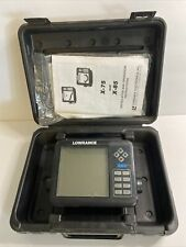 Lowrance X85 Fishfinder with Case and Manual UNTESTED, For Parts Or Repair