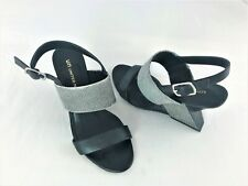 United Nude black & white open toe sling back heels size UK4/US6
