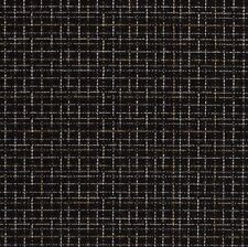 SUNBRELLA OUTDOOR Black Check Upholstery Fabric- Plaza / Onyx By The Yard BTY
