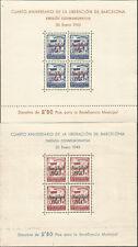 España Barcelona Edifil # 53-54 HB Navidad 1943