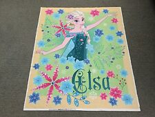 Frozen Fever Fabric Panel Elsa Quilt Panel Girls Disney Princess Cot Panel