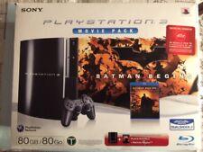CONSOLE PLAYSTATION 3 PS3 FAT CECH L04 80GB MOVIE PACK BATMAN BEGINS BELLA !!!