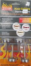 Taylor Weekend Warrior Leave-In Grilling Meat Thermometers, 4 Pc Set - New