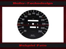 Tachoscheibe Mercedes W107 R107 560 SL 260 kmh Tacho Speedo Dial