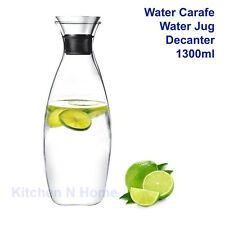 1.3L Water Carafe Pitcher with Flow Lid, Wine Decanter, Water jug, iconchef