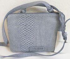 Liebeskind Berlin Karen Cross Body Shoulder Bag Snake Embossed Blue Leather NWT