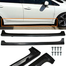 For 12 15 Honda Civic 9th 4dr Mugen Rr Style Side Skirts Rocker Panels Pair Abs Fits 2013 Honda Civic Si