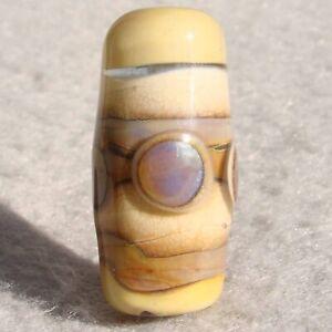QUEEN CREEK Handmade Art Glass Focal Bead Flaming Fools Lampwork Art Glass SRA