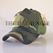 USA American Flag Patch Hat US Military Tactical Detachable Baseball Cap Digital