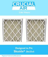2 Replacements Skuttle 000-0448-003 Pleated Furnace Air Filters 20x25x5 Merv 8