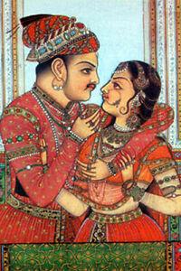 Postkarten INDIEN Rajasthan Kunstkarten versch Motive Moghul Art Miniaturmalerei