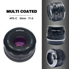 Mcoplus 35mm F/1.6 Lens APS-C for Sony NEX3/5/6/7 A5000 A5100 A6000 A6100 A6300
