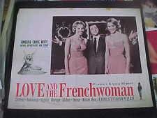LOVE AND THE FRENCHWOMAN, orig LCS (Jean Paul Belmondo, Valerie Lagrange)