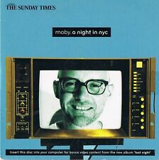 047A   PROMO CD Moby - A Night In NYC + Video   , Sunday Times