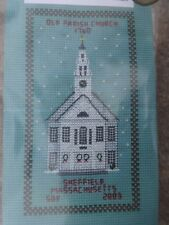 """Old Parish Church Counted Cross Stitch Sampler Kit 6-1/2"""" x 3-1/2"""" NEW gift wrap"""