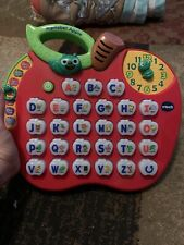 Vtech Alphabet Abc Apple Letter Fun Facts Spelling Bee Clock Quiz Music Fs Chrty