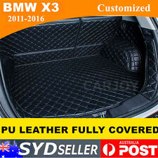 Waterproof PU Leather Car Rear Boot Liner Protector Cargo Mat BMW X3 11 - 2017
