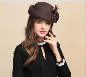 Vintage Women/Ladies Flax Wedding Party Evening Beret Derby/Church Formal Hat