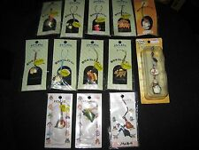 (LOT OF 13) NIBARIKI DESIGNED BY STUDIO GHIBLI CELL PHONE CHARM & STRAP - NEW