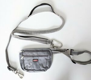 KONG 6' Gray Dog Leash & removable Pouch Fanny Pack Hands Free