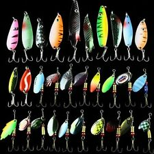 New Lot 30pcs Fishing Lures Spinner Baits Crankbait Assorted Fish Tackle Hooks