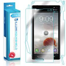 2x iLLumi AquaShield HD Front Screen + Back Panel Protector for LG Optimus L9