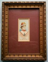 """19th Century Actress Josie Hall """"Light and Shade"""" Duke's Cigarette Card, framed"""