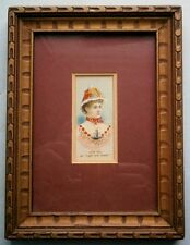"19th Century Actress Josie Hall ""Light and Shade"" Duke's Cigarette Card, framed"