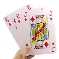 Huge Poker Big Deck Family Game Jumbo Playing Cards Giant King Size