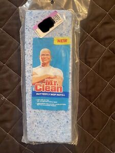 Mr. Clean Butterfly Mop Refill Sponge with Snap On/Off Plastic Head NEW SEALED