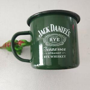 Jack Daniels Whiskey RYE Tennessee Becher Grün Emaille