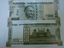 India Paper Money- One New Design 'M.Gandhi' Currency Note-2017-Rs.500/-#Eg